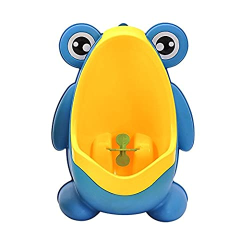 Boys Baby Urinal Potty Cute Frog Toilet Potty Training Urinal for Pee Trainer - Bathroom Toddler Children Urinal with Funny Whirling Aiming Target