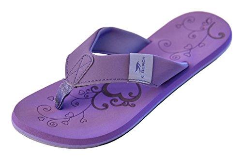 Beach Womens Schuhe (MADSea Damen Zehenstegpantolette Beach Woman Zehentrenner Sandale Viola lila Multi, Größe:36 EU, Farbe:violett)