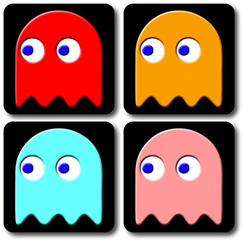 Pac-Man Ghosts 4 Piece Drinks Coaster Set