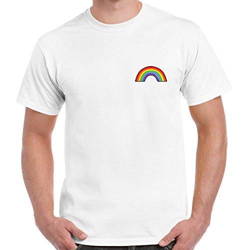 Gay Pride Rainbow Pocket T Shirt Festival Freedom LGBT Twitter Tumblr Twitter T-Shirt Tee Top Adult Unisex