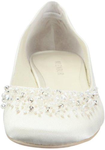 Menbur Wedding Brautschuhe Ballerinas, Ivory - 4