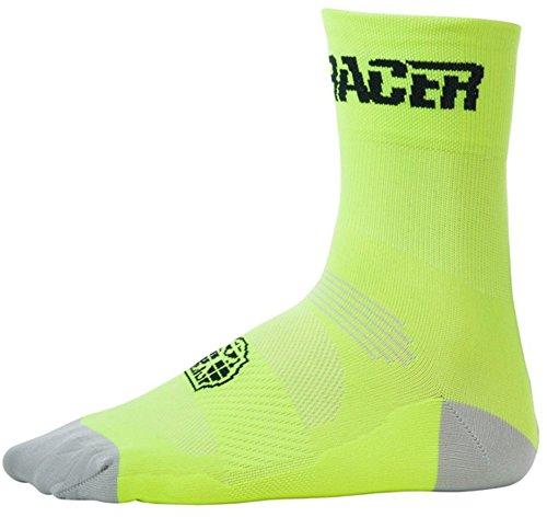 Bioracer Summer Socks Fluo Yellow Schuhgröße L | 41-43 2018 Fahrradsocken (Racer Socken)