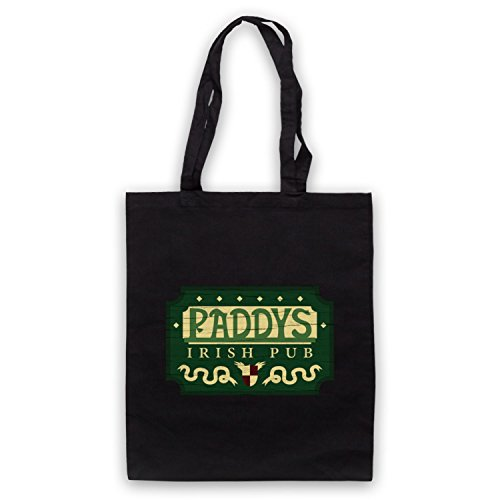 Inspiriert durch It's Always Sunny In Philadelphia Paddys Irish Pub Sign Inoffiziell Umhangetaschen Schwarz