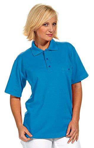 clinicfashion Polo-Shirt Unisex für Damen und Herren, türkis, Brusttasche, Mischgewebe, Größe XS-XXXL Türkis