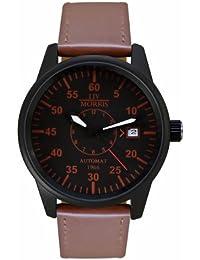 LIV MORRIS LIV MORRIS HANSE 1966 BRAUNSCHWEIG 4260195920361 - Reloj para hombres, correa de cuero color marrón