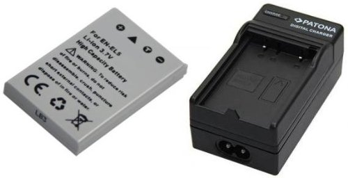 Akku (baugleich Nikon EN-EL5) + Ladegerät SET für die Nikon CoolPix P520 P510 P500 3700 4200 5200 5900 7900 inklusive Kfz- / Autoladegerät