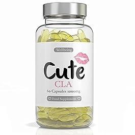 Cute Nutrition Capsule CLA Softgel 1000mg Non OGM Capsule di Acido Linoleico Coniugato Naturale ad Alta Resistenza per…