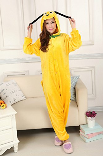 Pluto Hunde Einteiler Kigurumi Kostüm Hoody Pyjama, Sleep -
