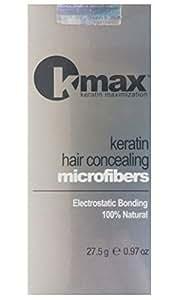 K-Max Pack 3 X 25 G CHATAIN CLAIR Poudre de Cheveux 100% Naturelle – Donne du Volume, Masque l'alopécie