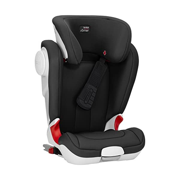 Britax Römer car seat Kidfix XP (SICT) Group 2/3. Britax Römer Front impact pad - XP, storm gray Shockproof side protection - MTS Codes High back for shock absorbing side protection and correct strap guide 5