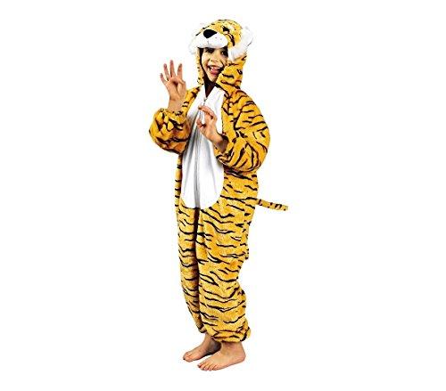 Mws - 227646 costume di carnevale tigre bimbo - bimba tutina con zip da 1 a 4 anni - 1/2 anni