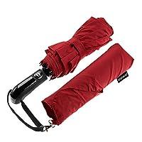 Ergonauts Windproof Vented Double Canopy Travel Umbrella - Teflon Coating, Ergonomic Handle & Protective Sleeve - Portable Compact Foldable Lightweight Design and High Wind Resistance