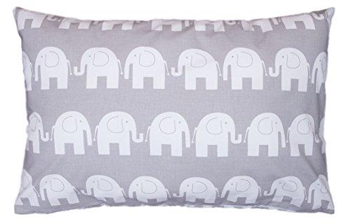 Dekokissen Kissenbezug Kissen 40cm x 60cm Elefant Grau