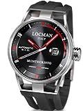 Locman 051100BKFRD0GOK - Orologio da polso uomo, caucciú, colore: nero