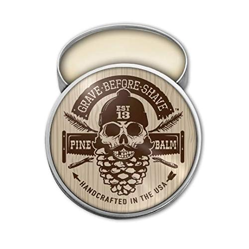 GRAVE BEFORE SHAVE Pine Scent Beard Balm (Pine/Cedar wood scent) (2 oz.) by Grave Before Shave