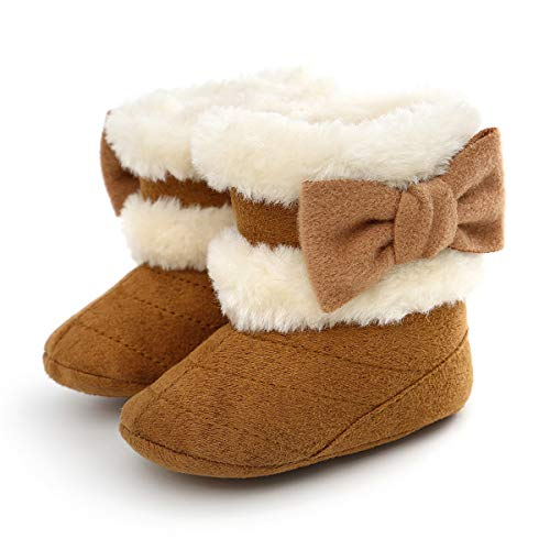 Yinuoday Winter Baby Girls Shoes Toddler Snow Boots Warm Prewalker Newborn Boots Anti-Slip