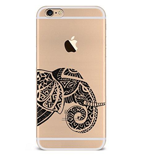 Iphone SE 5 5S Hülle Giraffe Einhorn Elefanten Art Karikatur Silikon TPU Schutzhülle Ultradünnen Case Schutz Hülle für iPhone 5 /5S/SE YM103