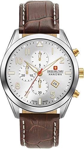 Swiss Military Hanowa Reloj Analógico para Unisex Adultos de Cuarzo con Correa en Cuero 06-4316.04.001.02