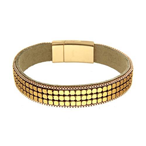sweet deluxe 5838 Damen Armband Valma, camel/gold
