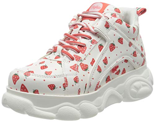 Buffalo Damen Corin Hohe Sneaker, Mehrfarbig (Strawberry 000), 41 EU
