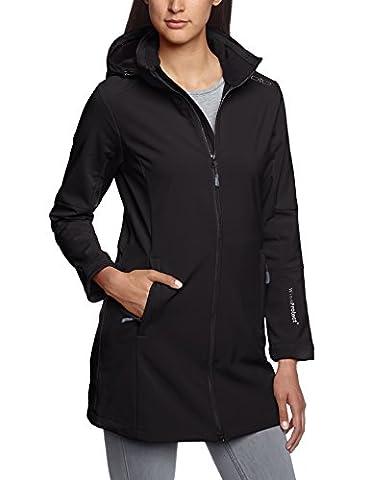 CMP Damen Softshellmantel Zip Hood, nero, 38, 3A08326
