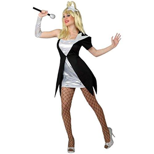 Spassprofi Kostüm Sängerin Größe XL mit Perücke und Mikrofon Popsternchen Gaga