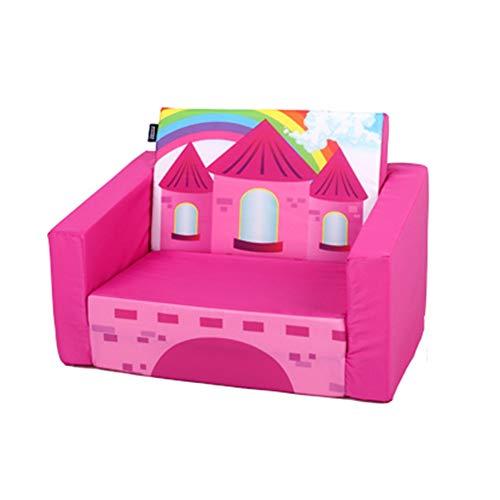 Sofad Kinder-Sofa Loungemöbel for Jungen und Mädchen Einzelwohn Bett Room Stuhl Kinder Sofa for Privatanwender Zuhause Sofa (Farbe : Rose Rot, Größe : 40x58x43cm)