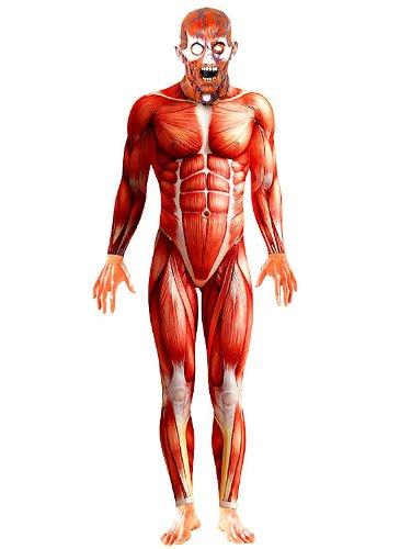 Halloween Kostüm Menschliche Anatomie für (Masken Hautenges Halloween)