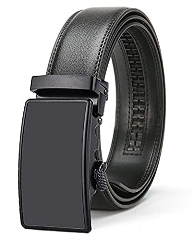 ITIEZY Men's Ratchet Leather Belt Automatic Buckle Belt Black & Brown(Fashion trends )