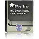 Blue Star Premium - Batería de Li-Ion litio 1300 mAh para HTC Desire HD / G10