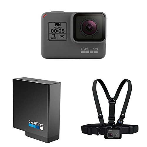 HERO5 Black + GoPro Akku für HERO5 Black  + GoPro Gurtsystem Chest Mount Harness