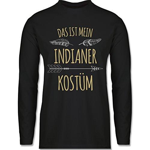 Ideen Gute Kostüm Für Indianer - Shirtracer Karneval & Fasching - Das ist Mein Indianer Kostüm - L - Schwarz - BCTU005 - Herren Langarmshirt