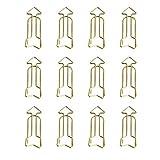 Gespout 12 Pcs Trombones en Forme de Flèche Clip de Signet Papeterie Etudiant Fournitures Scolaires de Bureau
