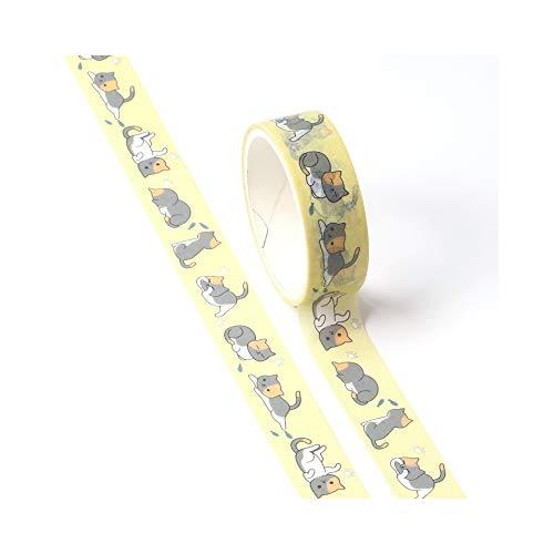 Jiyoho 2 STÜCKE Dekor Nette Washi Tape Tier Set Hund Katze schwein fuchs faultier specht DIY Planer Abdeckbänder Schule Bürobedarf (Planer Schwein)