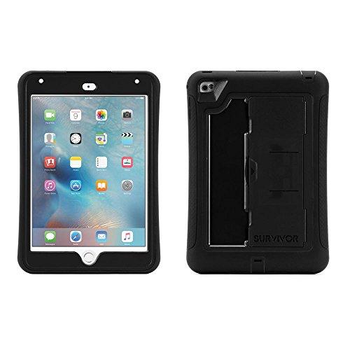 Griffin Survivor Slim Schutzhülle für Apple iPad mini 4 - schwarz [Standfunktion I Extrem robust I Integrierte Displayfolie] - GB41365 (Case Survivor 4 Griffin Ipad)