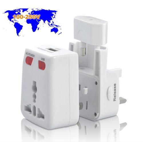 Adaptateur fiche de courant compatible en tout le monde Chargeur USB