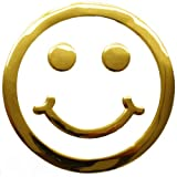 phil trade Aufkleber Sticker Gold Chrom 3D Emblem Smiley Emoji Auto Motorrad DZ-28G