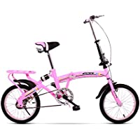 YEARLY Bicicleta plegable estudiante, Bicicleta plegable Ocio Frenos de disco de tipo Niño Viaje Bikes