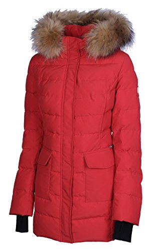 SIB-V308 Damenjacke SNOWIMAGE Outdoor Parka mit ECHTFELL Kapuze (40/XL- Länge: 76 cm)
