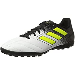 adidas Ace 74 TF, Scarpe da Calcio Uomo, Giallo (Footwear White/Solar Yellow/Core Black), 46 EU