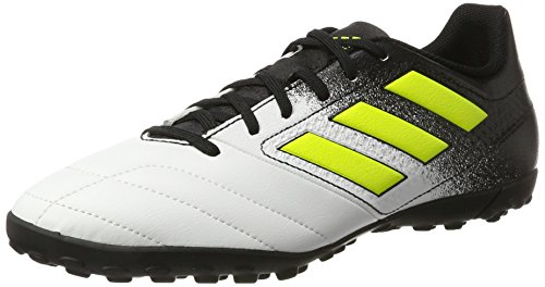 adidas Ace 17.4 Tf, Chaussures de Football Entrainement Homme Blanc (Footwear White/Solar Yellow/Core Black)
