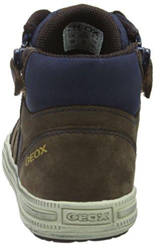 Geox Elvis B, Sneakers Hautes Garçon Braun (BROWN/NAVYC0947)
