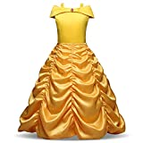 Bonito Disfraz de Princesa Belle Beauty and The Beast Girls Ruby para Disfraces de Festival