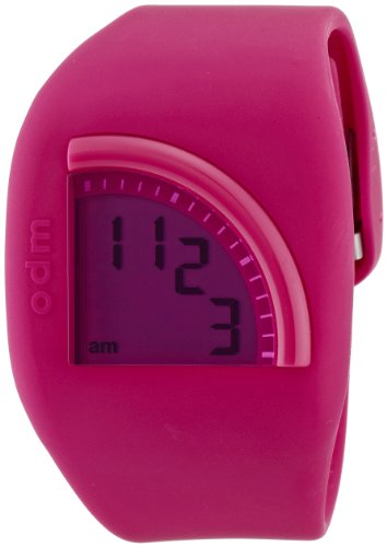 odm-quadtime-unisex-quartz-watch-with-lcd-dial-digital-display-and-pink-silicone-strap-dd128-3