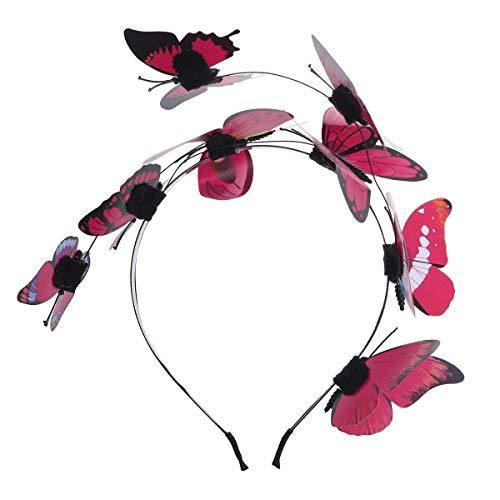 Kostüm Schmetterling Kopfbedeckung - Amosfun Schmetterling Stirnband Halloween Kostüme Stereoskopische Schmetterling Kopfbedeckungen Kopfbedeckungen Bunte Haarschmuck Party Haarschmuck, Weihnachten Geburtstagsgeschenk für Frauen Mädchen