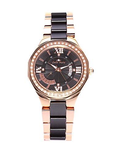 Stella Maris Damen-Armbanduhr Analog Quarz Premium Keramik Diamanten - STM15Y6