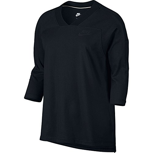 Nike Lightweight Pullover (Nike Womens 3/4 Sleeve Logo Pullover Top Black M)