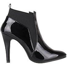 KRISP Botines Mujer Tacón Zapatos Otoño Invierno Negro Marron Chelsea