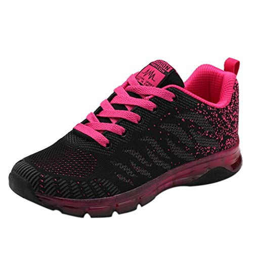 Sneaker Damen Turnschuhe Laufschuhe Netzlaufschuhe Schüler Joggingschuhe Fliegende Gewebte Schuhe Freizeitschuhe Air Cushion Sportschuhe Gym Schuhe,ABsoar
