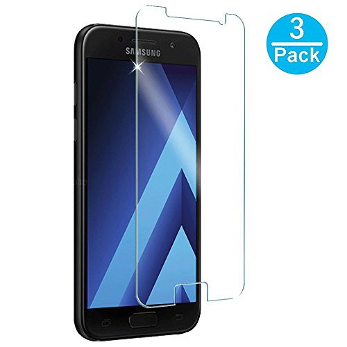 JTMall [3-Pack] Samsung Galaxy A3 2017 (SM-A320 Series) Screen Protector, 0.26mm 9H Hardness and Easy Bubble-Free Installation 3D Touch Compatible Premium Tempered Glass Film